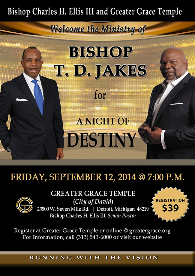 greater grace temple welcome bishop td jakes | Show and Tell